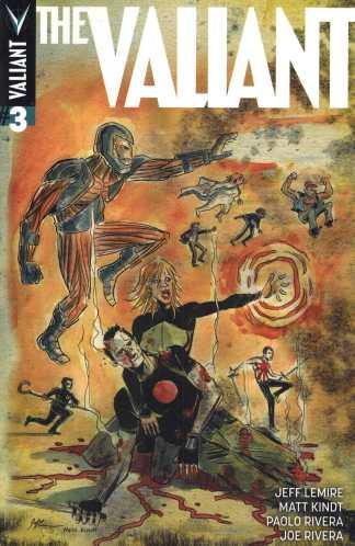 The Valiant #3 1:20 Jeff Lemire Matt Kindt Variant 2014 X-O Ninjak Bloodshot