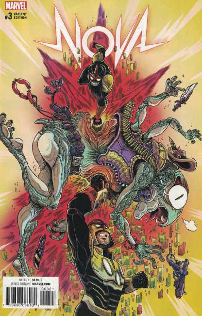 Nova #3 1:25 James Stokoe Variant NOW Marvel 2017