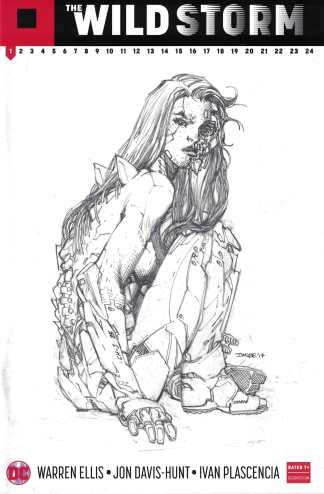 The Wild Storm #1 Comicspro Exclusive Jim Lee Sketch Variant Warren Ellis 2017