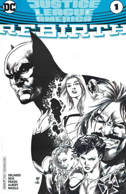 Justice League of America Rebirth #1 Comicspro Exclsuive Sketch Variant DC 2017