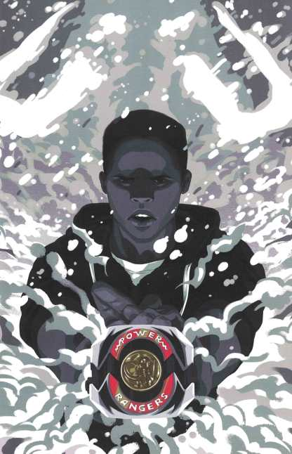Mighty Morphin Power Rangers #12 1:25 Goni Montes Variant Boom 2016 Black