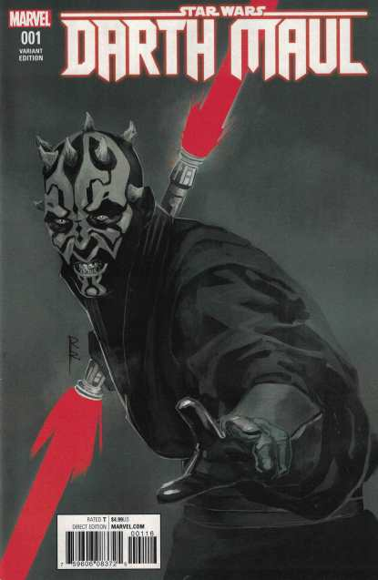 Star Wars Darth Maul #1 ComicsPro Exclsuive Red Sketch Variant Marvel 2017