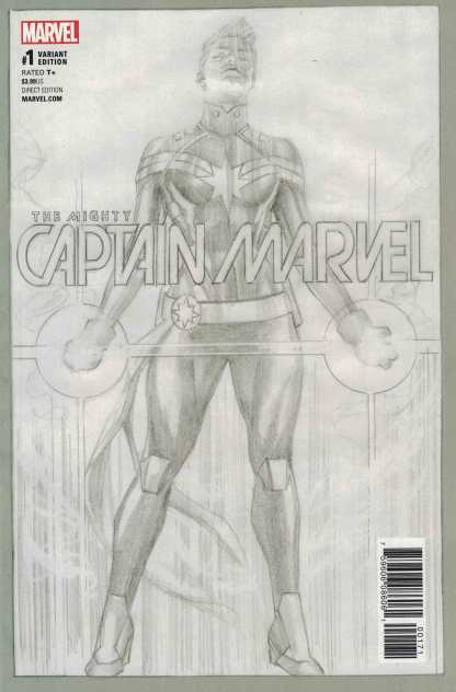 Mighty Captain Marvel #1 Alex Ross Sketch Variant Now 2017