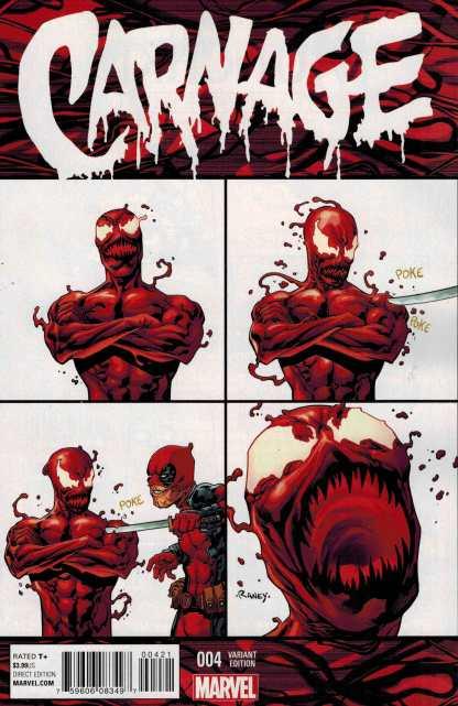 Carnage #4 1:10 Raney Deadpool Variant Marvel ANAD 2015
