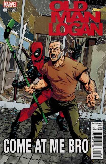 Old Man Logan #1 1:10 Deadpool Come at Me Bro Variant Marvel ANAD 2016