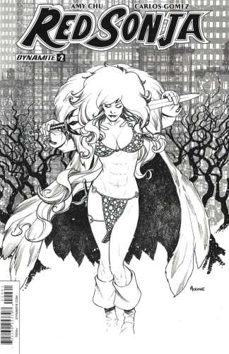 Red Sonja #2 1:20 Mike McKone Black & White Sketch Variant Cover F 2017