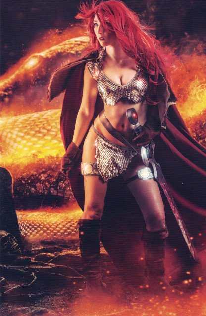 Red Sonja #2 1:10 Cosplay Photo Virgin Art Variant Cover E 2017 Vol 4 Dynamite