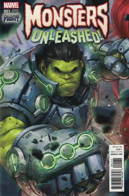 Monsters Unleashed #1 1:25 Jee-Hyung Lee Video Game Variant Marvel Now 2017