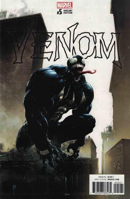 Venom #5 1:100 Clayton Crain Variant Marvel 2016 HTF