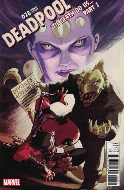 Deadpool #28 David Lopez Poster Variant Marvel 2015 Till Death Do Us Part 1