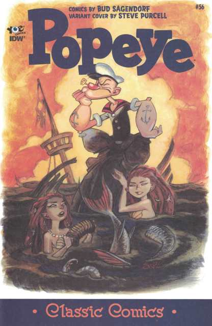 Popeye #56 1:10 Steve Purcell Variant IDW Ongoing