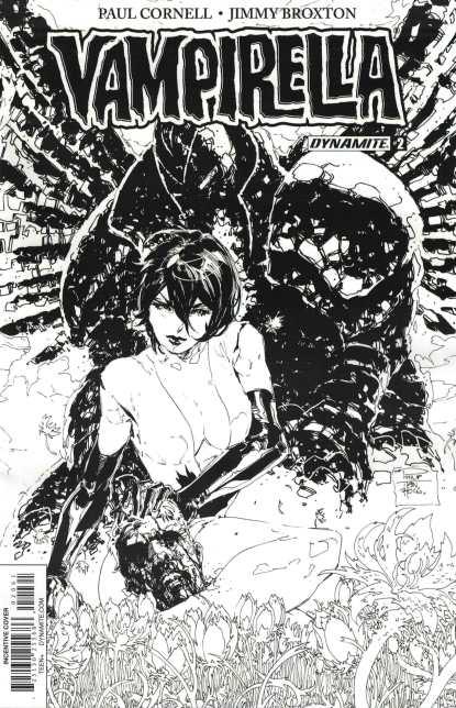 Vampirella #2 1:20 Tan B&W Sketch Variant Cover F Dynamite 2017