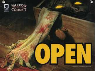 Dark Horse Open Closed sign Harrow County / American Gods 2017