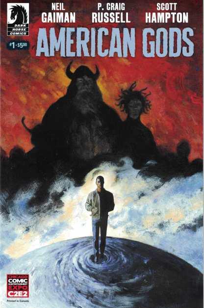 Neil Gaiman American Gods #1 C2E2 Comics Pro Variant Dark Horse 2017