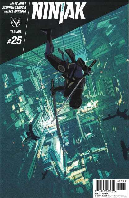 Ninjak #25 1:20 Owen Freeman Variant Cover D Valiant 2015