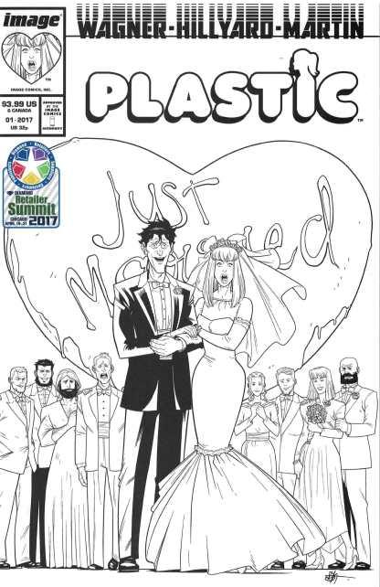 Plastic #1 Robinson Variant April Fools B&W Comics Pro C2E2 Image 2017