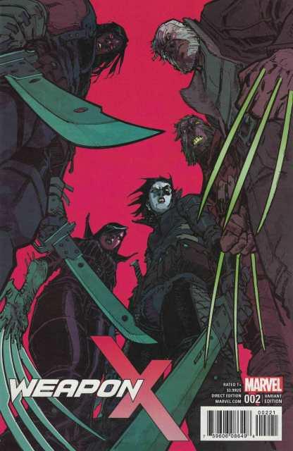Weapon X #2 1:25 Eric Canete Variant Marvel 2017 X-Men Force Wolverine