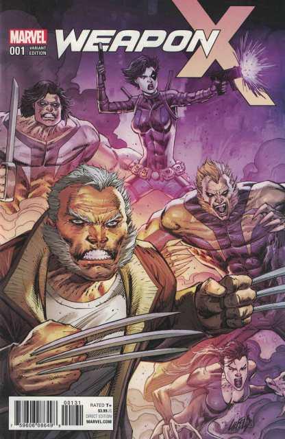 Weapon X #1 1:50 Rob Liefeld Variant Marvel 2017 Logan X-Men