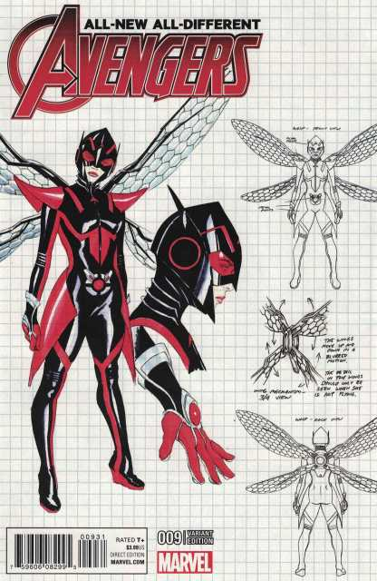 All-New All-Different Avengers #9 1:50 Alex Ross New Wasp Design Variant 2015