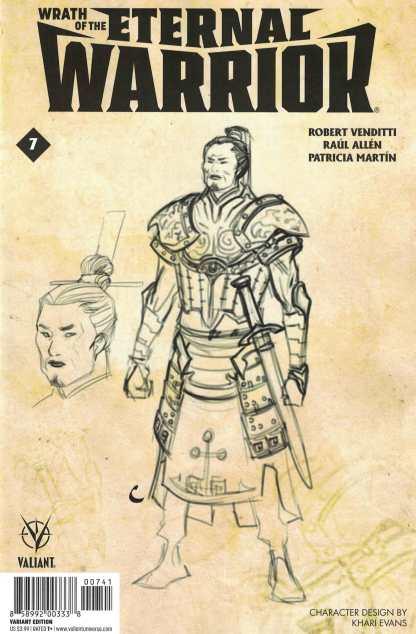 Wrath of the Eternal Warrior #7 1:10 Evans Design Variant Cover D Valiant 2015