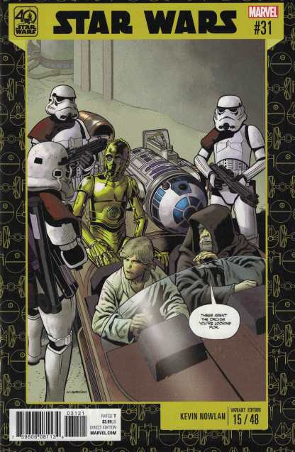 Star Wars #31 Kevin Nowlan Variant 40th Anniversary Cover Marvel