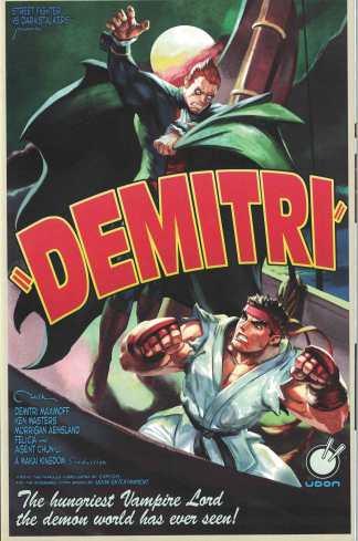 Street Fighter vs Darkstalkers #1 1:10 Joe Vriens Cover D Udon 2017
