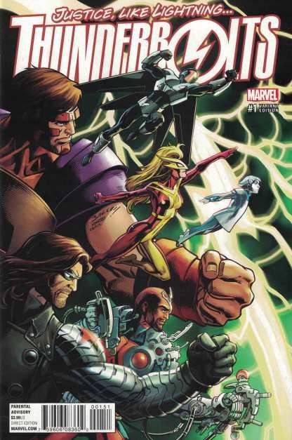 Thunderbolts #1 1:25 Mark Bagley Variant Marvel ANAD 2016