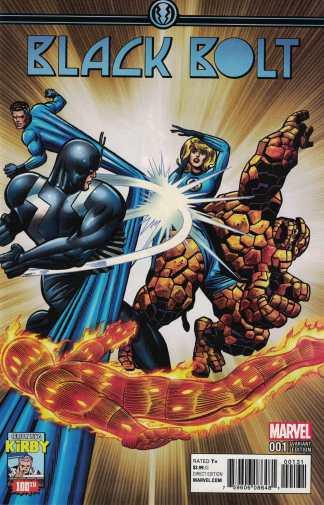 Black Bolt #1 1:10 Jack Kirby Variant Celebrating 100 Marvel 2017 Inhumans