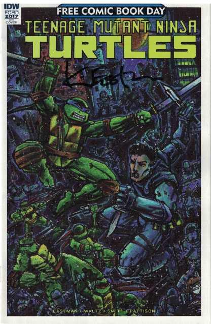 FCBD Teenage Mutant Ninja Turtles Signed Eastman Ultimate Comics Exclusive 2017