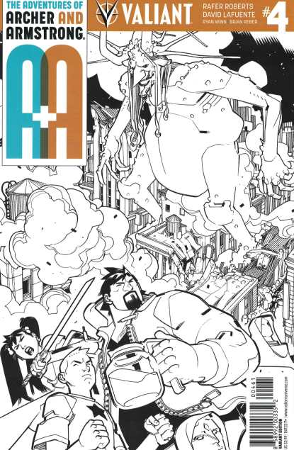 A&A Adventures of Archer & Armstrong #4 1:50 Lafuente Variant Cover F Valiant