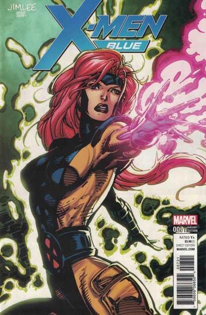 X-Men Blue #7 Jim Lee Trading Card Variant Marvel 2017 Jean Gray