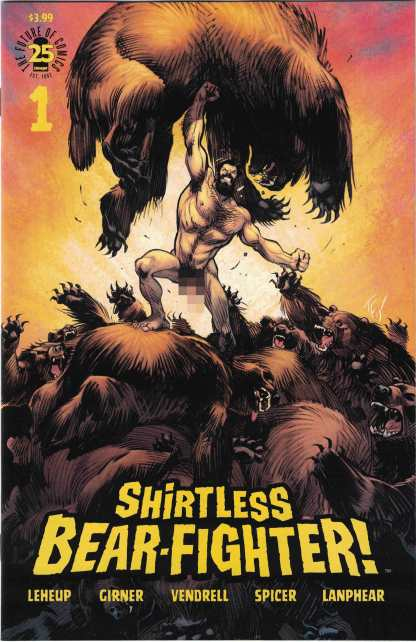 Shirtless Bear-Fighter #1 1:25 Andrew Robinson Nude Beariant Variant Image 2017
