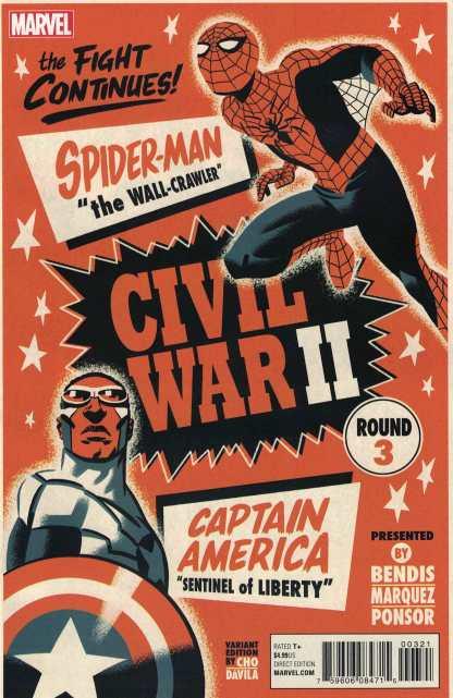 Civil War II #3 Michael Cho Variant Marvel 2016 Hawkeye Death of Hulk