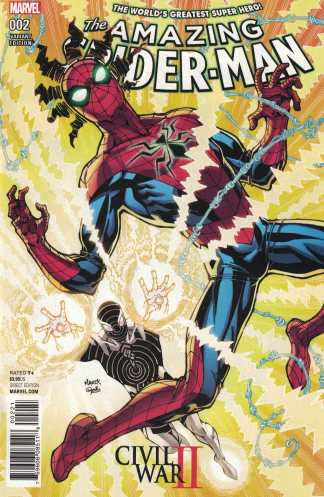 Civil War II Amazing Spider-Man #2 Nauck Variant Marvel 2016