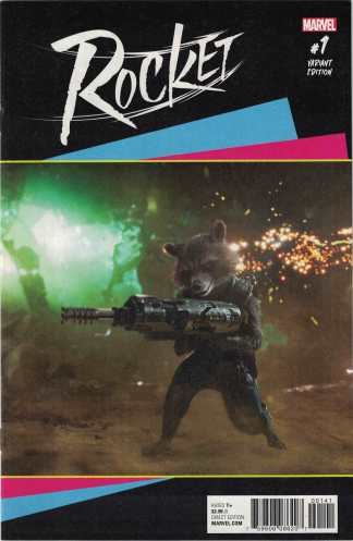 Rocket #1 1:15 Movie Photo Art Variant 2017 Guardians of the Galaxy Raccoon
