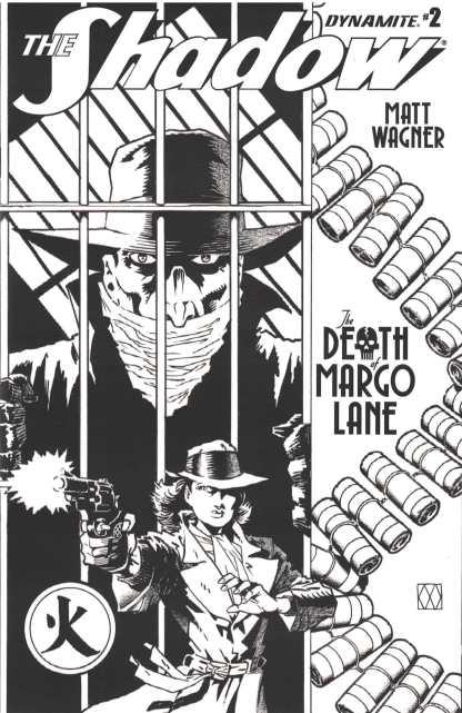 Shadow Death of Margo Lane #2 1:10 B&W Matt Wagner Variant Dynamite 2016