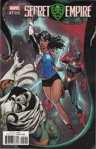 Secret Empire #7 1:50 J Scott Campbell Variant Marvel 2017 Miss America Chavez