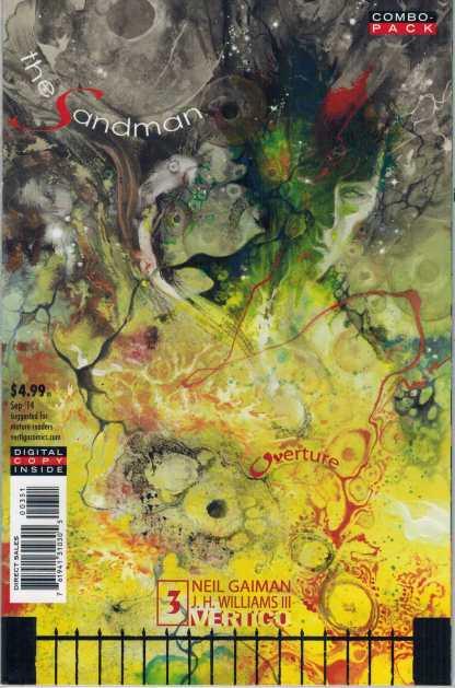 Sandman Overture #3 Combo Pack Edition Vertigo 2013