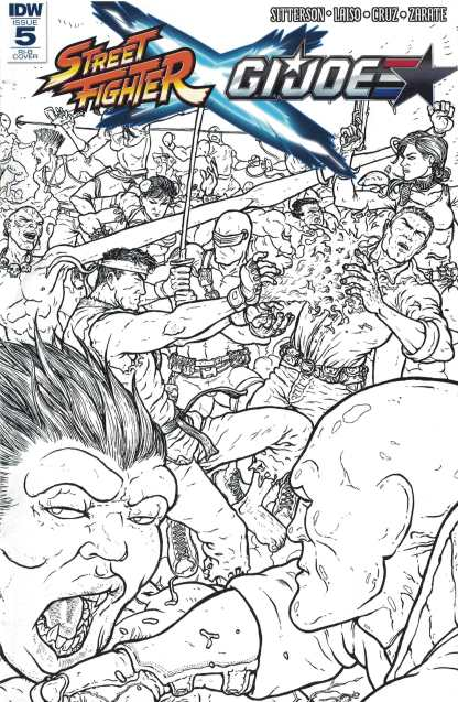 Street Fighter X GI Joe #5 1:25 Retailer Incentive Sketch Variant RI-B IDW Udon