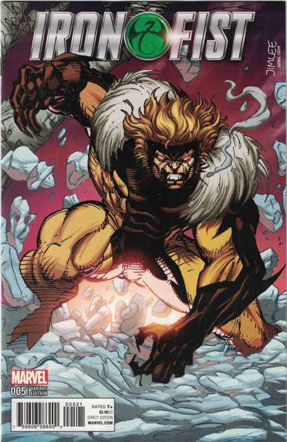 Iron Fist #5 Jim Lee X-Men Trading Card Sabertooth Variant Marvel 2017