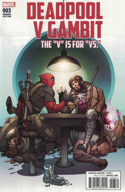 Deadpool V Gambit #3 Pasqual Ferry Variant Marvel ANAD 2016 Vs