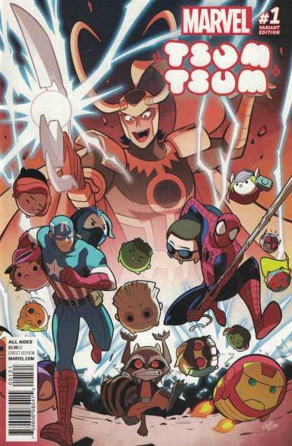 Marvel Tsum Tsum #1 1:25 Gurihiru Variant HTF Rare 2016