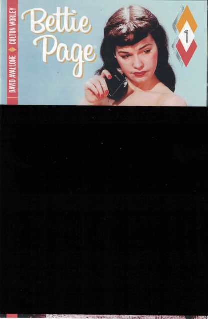 Bettie Page #1 Black Bagged Nude Photo Variant Cover Dynamite Comics 2017