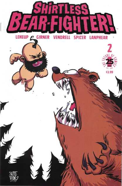 Shirtless Bear-Fighter #1 1:15 Skottie Young Baby Beariant Image 2017