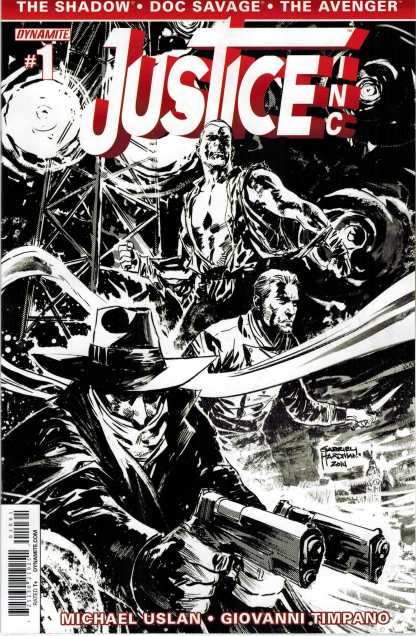 Justice Inc. #1 1:10 Black and white Variant Dynamite