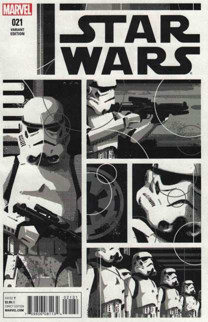 Star Wars #21 1:100 David Aja Black and White Sketch Variant Marvel 2015