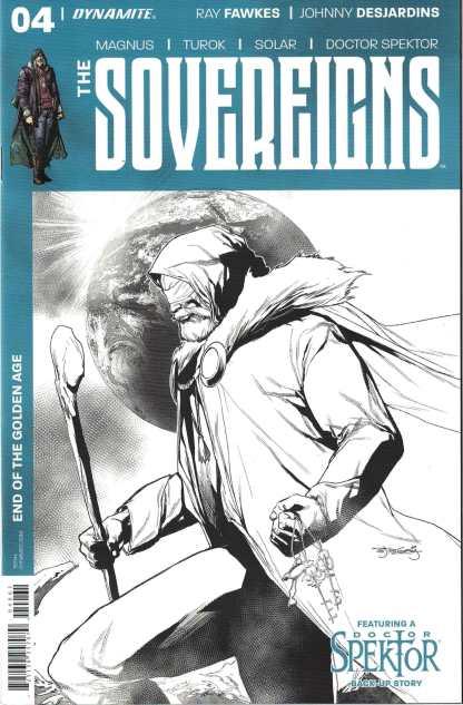 Sovereigns #4 1:20 Stephen Segovia B&W Variant Dynamite 2017