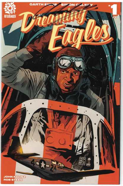 Dreaming Eagles #1 Standard Cover Signed by Garth Ennis VF Very Fine Aftershock