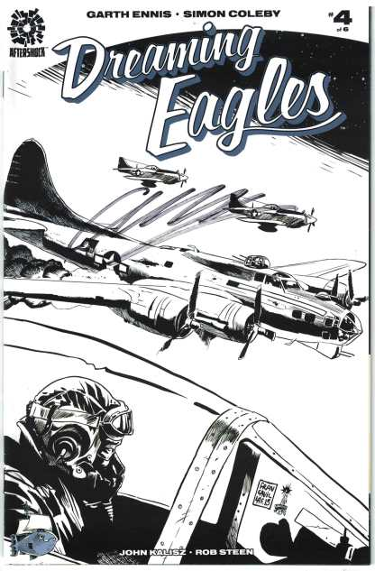 Dreaming Eagles #4 Ssalefish Exclusive Black & White Variant Signed by Garth Ennis