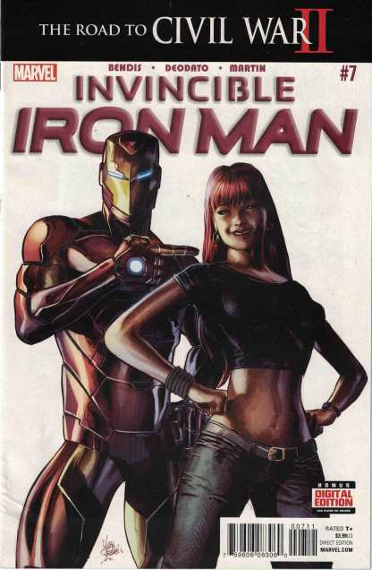 Invincible Iron Man #7 1st Print Mike Deodato Marvel 2016 1st Riri Williams
